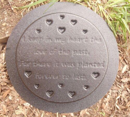 stepping stone plastic memorial I keep plaque mold garden ornament  plaque