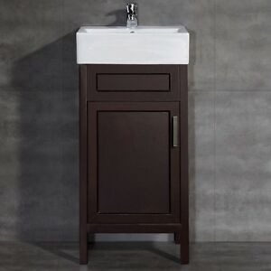 Vitreous China Vanity Top Basin Small Bathroom Pedestal Sink Cabinet