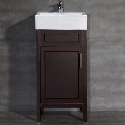 Vitreous China Vanity Top Basin Small Bathroom Pedestal Sink Cabinet Modern 640716380890 Ebay