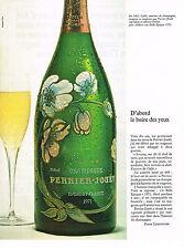 PUBLICITE   1977   PERRIER-JOUET  champagne BELLE EPOQUE