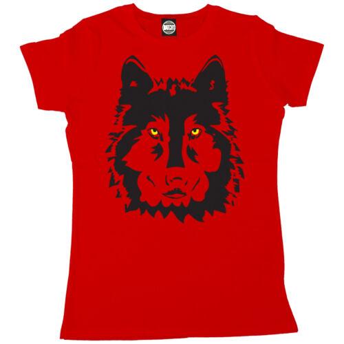 WOLF WOMENS ANIMAL FASHION PRINT T-SHIRT