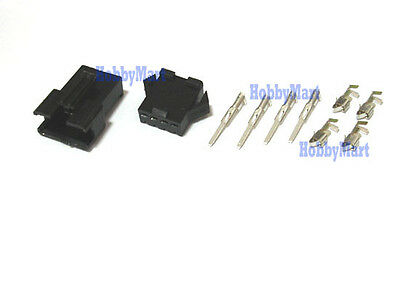 JST 2.5mm SM 4-Pin Battery Male Female Connector Plug Crimp Terminal x 10 SETS