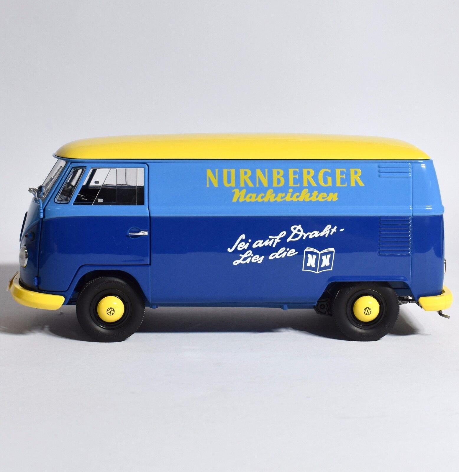 SCHUCO VOLKSWAGEN VW  camionnette t1 Transporteur Nuremberg messages 1 18, NEUF dans sa boîte, k018  pas de taxes