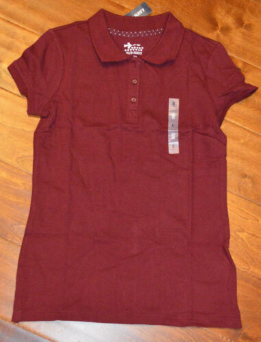 6-7 10-12,14 8 Girl/'s Old Navy Maroon Red Short Sleeve Polo Shirt Top Sizes 5