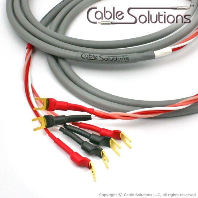 Canare 8S8 Star Quad Bi-Wire Speaker Cables 8m, Vampire Wire Terminations