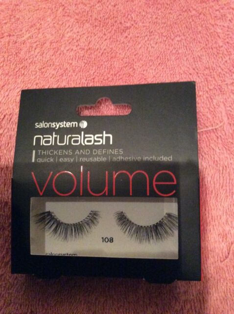 f23a7a85a77 Salon System Naturalash Re-Usable False Black 108 Eye Lashes Adhesive  Included