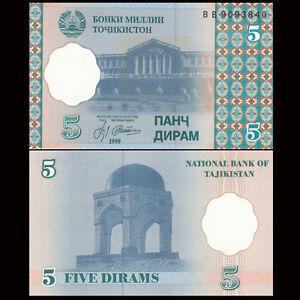 Tajikistan-5-Diram-1999-P-11-UNC