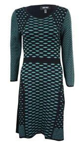 Nine-West-Women-039-s-Dot-Print-Sweater-Dress