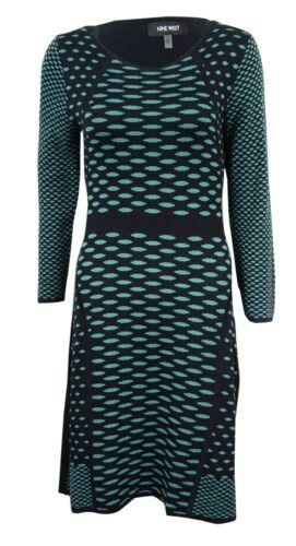 Nine West Women/'s Dot-Print Sweater Dress