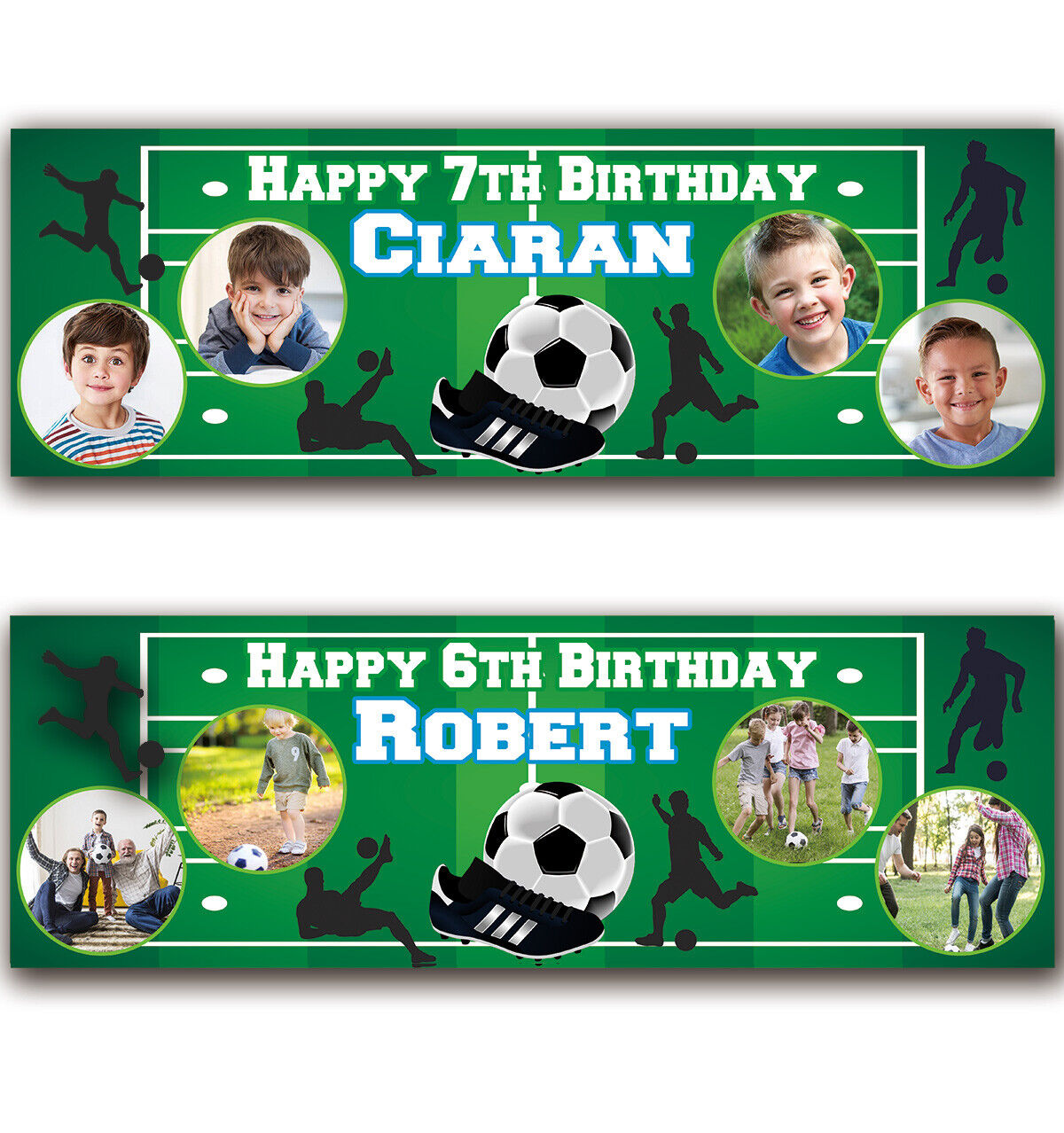 2ftx6ft Personalised Birthday Banner Photo Children kids Baby Party Decoration