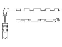 BMW 318i E46 1.9i Delphi Rear Wear Indicator LZ0151 116bhp Saloon 98