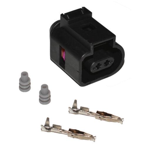 Stecker 2-polig Reparatursatz für VW 1J0973702 Skoda Seat weiblich Crimp Kontakt