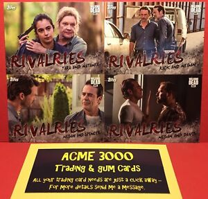 Topps-The-Walking-Dead-Season-7-RIVALRIES-4-Card-Chase-Insert-Set-R-1-to-R-4