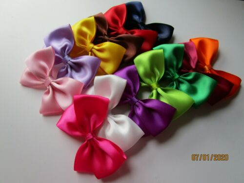 Tied Sticky Ribbon Bow Wedding Craft UK Large 9 cm Self Adhesive Satin Bows Pre
