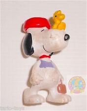 SNOOPY & WOODSTOCK Peanuts 80s Bully - pvc figure - personaggio pvc usato