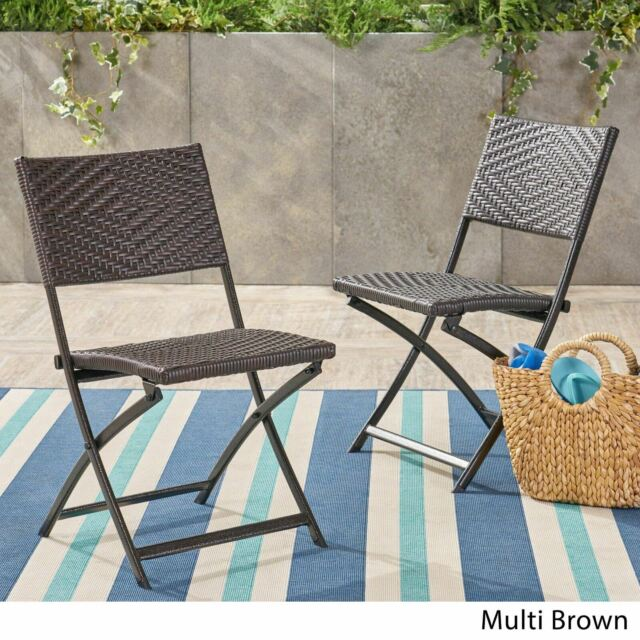 Wicker Dining Chair Set Of 2 Rattan