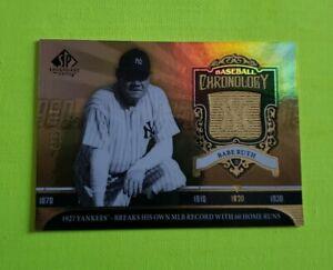 2006-Sp-Legendary-Tagli-Baseball-Cronologia-Oro-BR2-Babe-Ruth-Sn-175-550