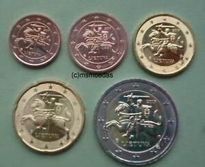 Litauen 5 Euromünzen 2017 Mit 1 Cent 2 Cent 10 Cent 20 Cent 2