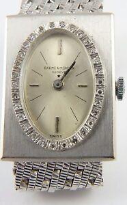 16dd9825edb Swiss Baume   Mercier 14ct white gold lady s diamond bezel bracelet ...