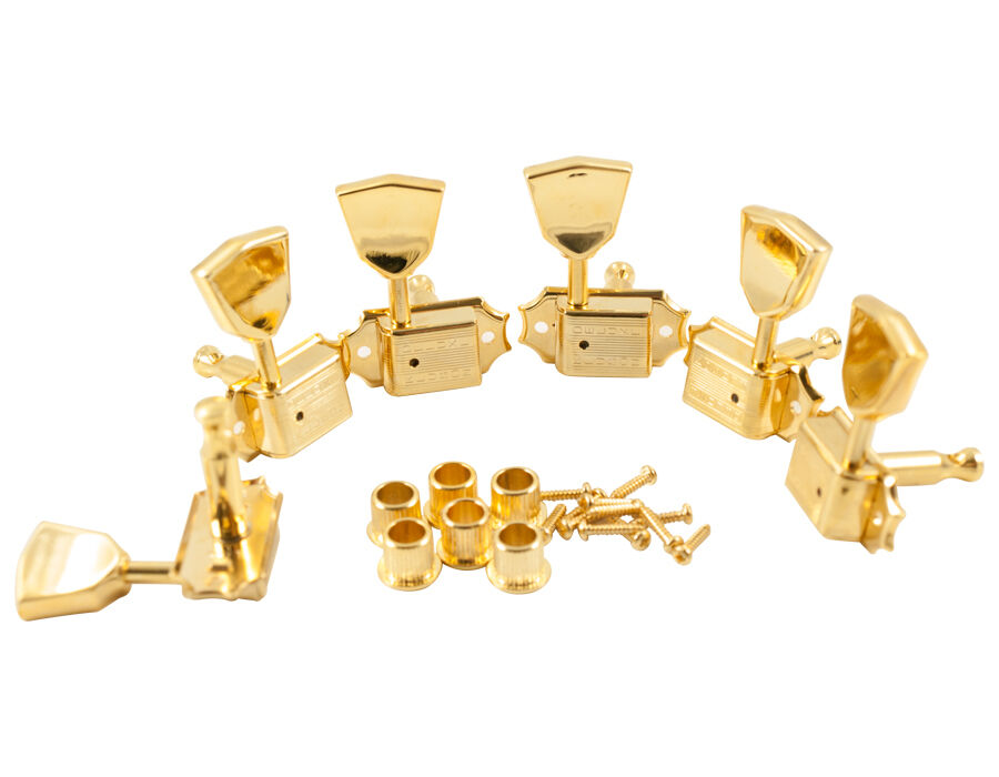 Kluson 3+3 Gold Metal Keystone Button Tuners 8.8mm fits Gibson SD90SLG DR M