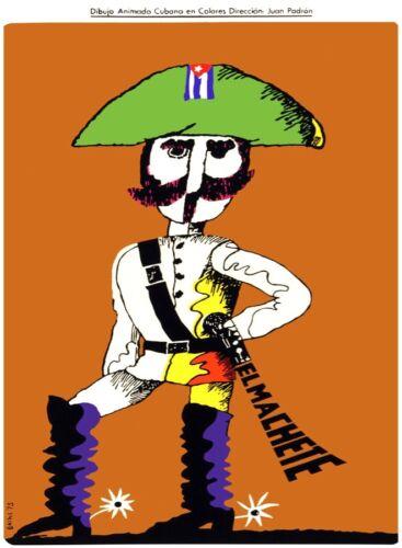 Movie Poster for film EL MACHETE.Animated Cuban rebel.Cuba.Home Room art decor