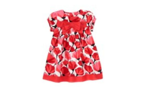 NEW GYMBOREE HAPPY POPPY  GIRLS FLORAL DRESS SIZE 12-18 MONTHS