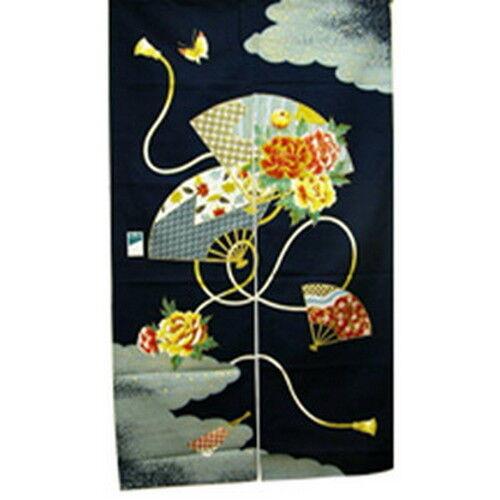Japanese Noren Doorway Curtain Fan Made in Japan PS121 S-2721
