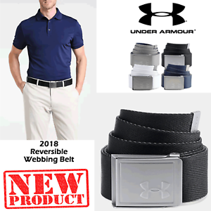 f1c3c7cc41 Details about UNDER ARMOUR WEBBING BELT ADJUSTABLE CANVAS BELT ONE SIZE  MENS GOLF BELT NEW