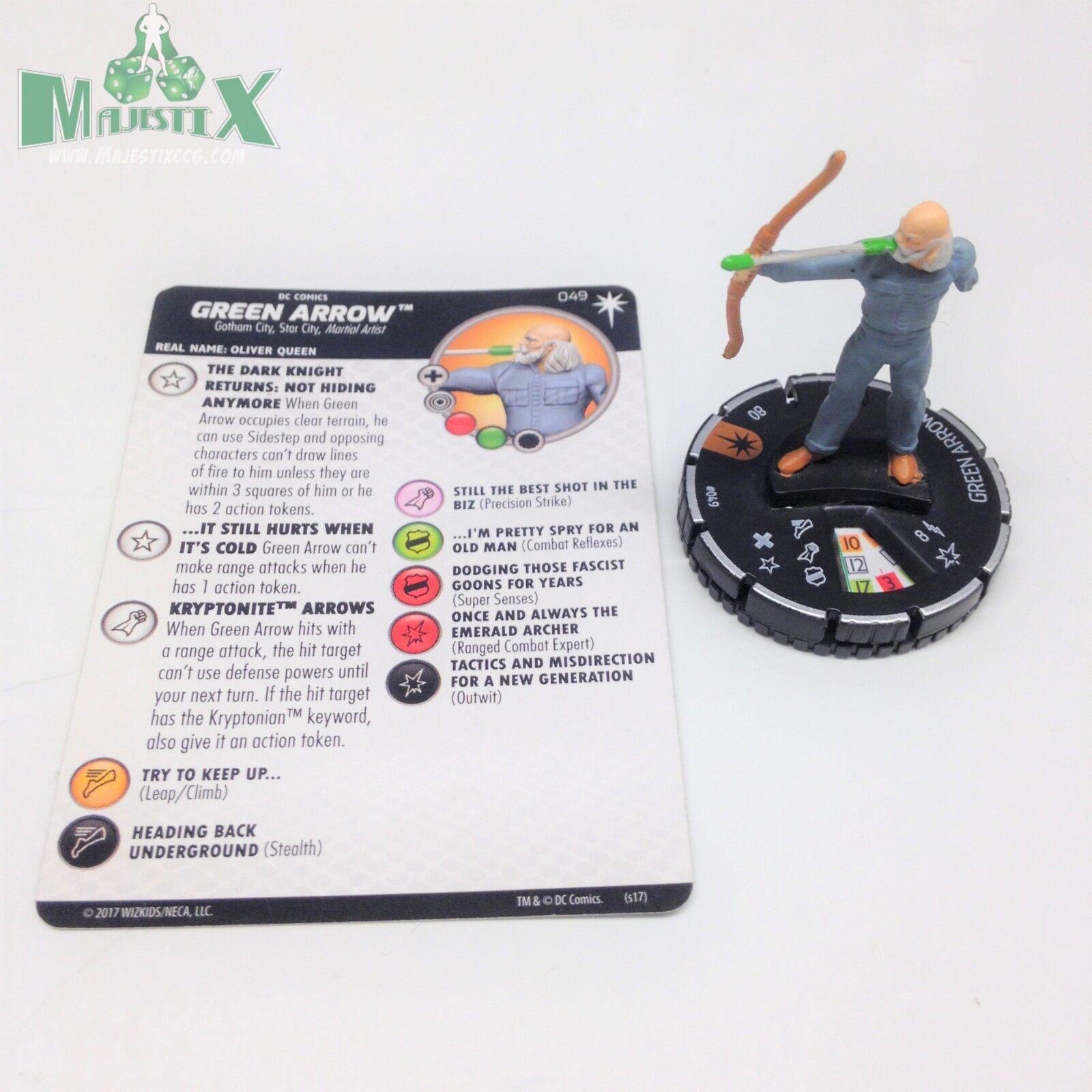 Heroclix DC Elseworlds conjunto Flecha verde (DKR)  049 Figura de Chase Con Tarjeta