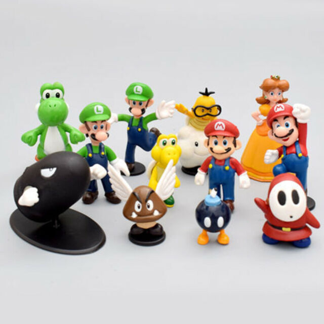 Super Mario Bros Lot 18pcs Action Figure Doll Playset Figurine Toy Collection US