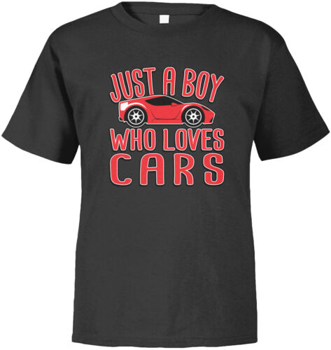 Just A Boy Who Loves Cars Red Racecar Speedy Little Guy Driving  Toddler T-Shirt