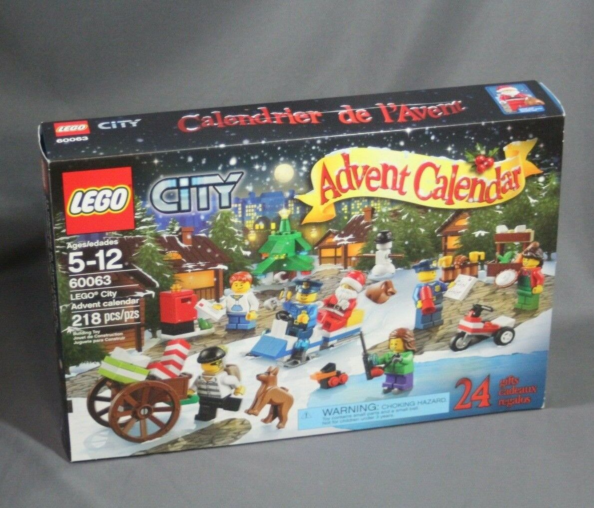 Factory Sealed - Lego City Advent Calendar 60063 2014 Christmas Holiday Set