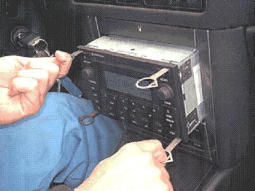 4x Ausbau Werkzeug VW Audi Mercedes Ford Entriegelung OEM Schlüssel Radio NAVI