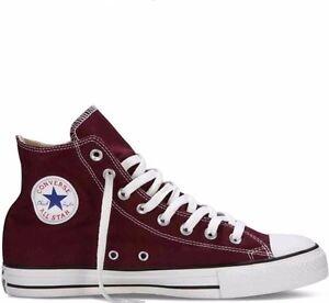 Converse All Star Chuck Taylor Burgundy Hi Top Canvas New In Box ... 3ab9d3246