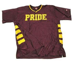 VINTAGE Wilson Mountain Pointe Pride Football Jersey Size 46 Maroon Yellow Vneck