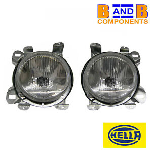 VW T25 CAMPER TRANSPORTER HEADLAMP LIGHT HEAD LAMP PAIR RHD HELLA A1303