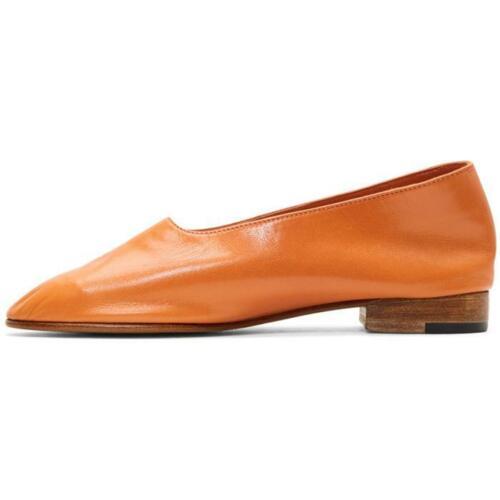 MARTINIANO Glove Orange Leather Round Toe Slip-On… - image 1