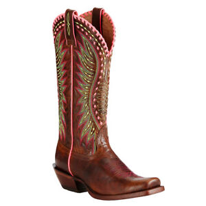 9773ce13fde Details about Women's Ariat Derby Crackled Cafe Square Toe Boot Style  10019936 FREE SHIP