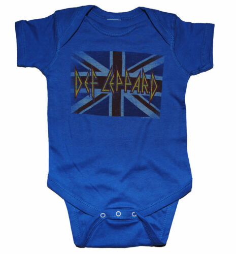 New Def Leppard Union Jack Baby Romper One Piece Shirt 6-18 Months badhabitmerch
