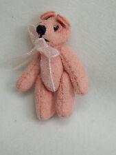 "World Of Miniature Bears Dollhouse Miniature 1"" Micro Mini Suede Bear #6106"