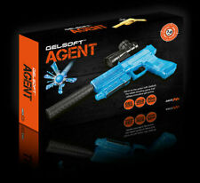 Automatic USB Kids Rapid Fire Gel Soft Water Crystal Bullet Toy Space Gun UK