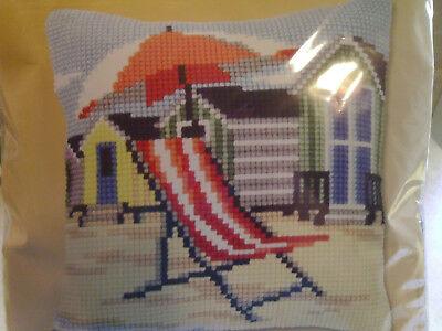 At The Beach Needlecraft Kits Vervaco Cross Stitch Kit Cushion