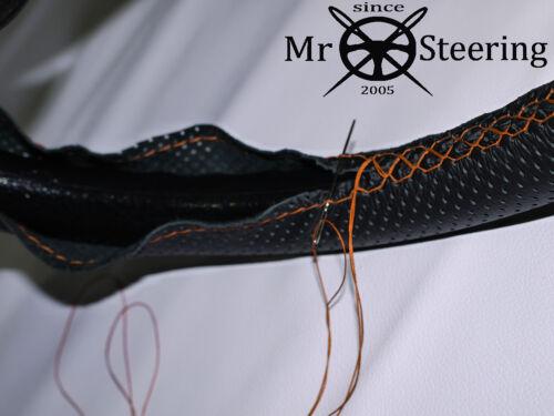 Perforé Volant en Cuir Couverture Pour Vauxhall Movano MK3 Orange Double ST