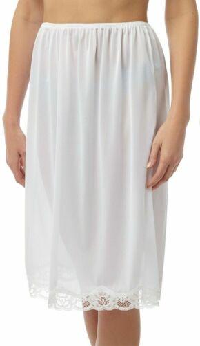 "Size 16//18 Luxury White Cling Resist Half Slip New//Tags Waist Slip 24/"""