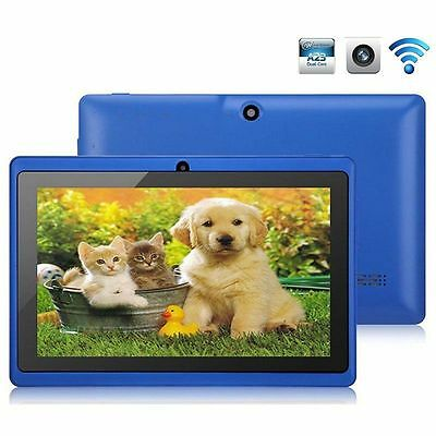 "Blue 8GB 7"" Android 4.4 Tablet PC for Kids Children A33 Quad Core Kid MID WiFi"