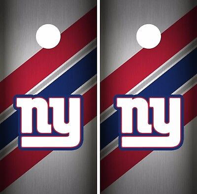 New York Giants Cornhole Skin Wrap NFL Football Flag Vintage Vinyl Decal DR61