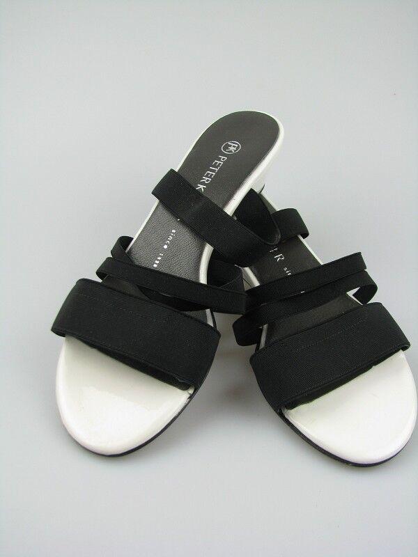 Peter Kaiser ISIDA Sandale in black white Gummizug Gr. 37,5