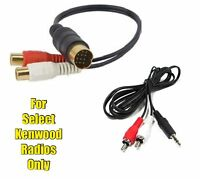 Kenwood Cd Changer Port To Rca Aux Input Audio Adapter Cable With 3.5mm Cable