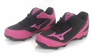 Mizuno 9-Spike Finch Franchise 7 Youth Softball Shoes/Cleats Sz 5.5 Pink & Black
