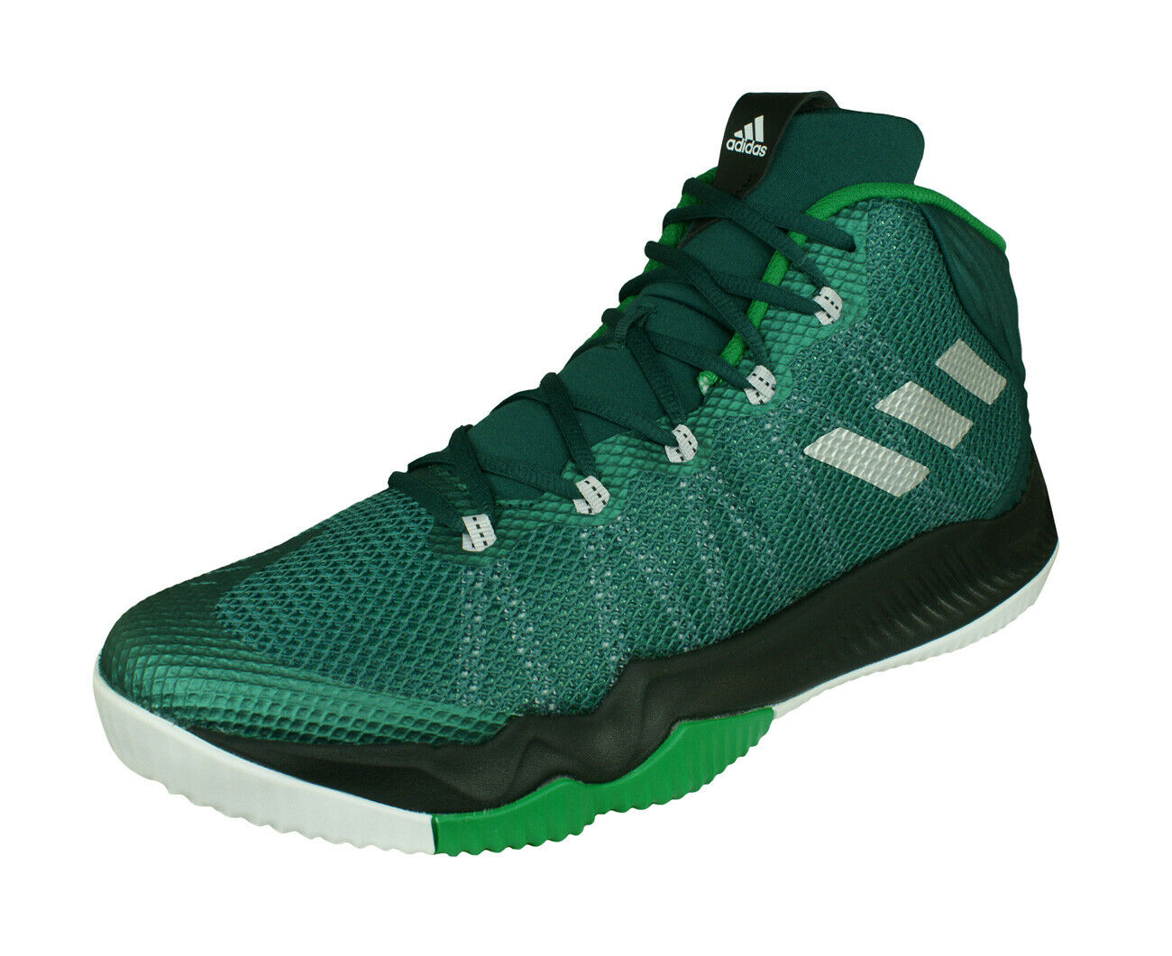 Adidas Crazy Hustle Mens Basketball Sneaker-Boots Court Ankle Mid-Top Green